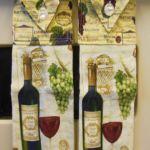 Wine decor kitchen towels