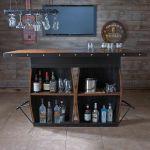wine barrel bar back