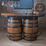 Wine barrel bar front
