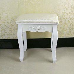 OGORI Vintage White Dressing Table Stool | Dressing Table Chair | THD