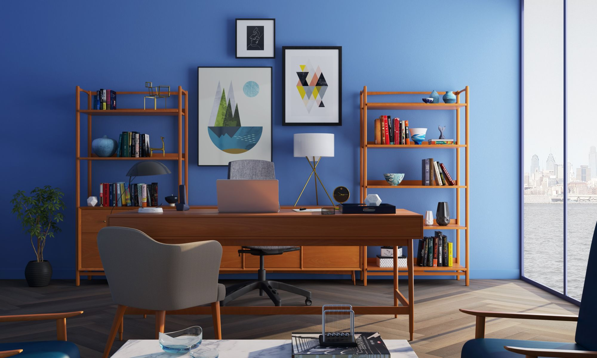 Professional Paint Tips & Tricks - How Painting A Room As Beginners -paint your home office in blue