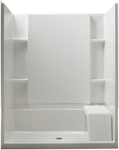 The Kohler Sterling 72290100-0 Accord is a white Standard Shower Kit with Seat