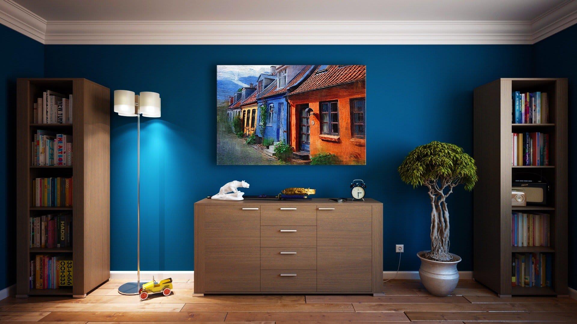 interior design tricks for small spaces - apartment-architecture-bookcase