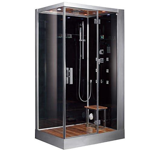 Black Steam Shower & Sauna DZ959-BLK-R Steam Shower & Sauna - Right Configuration