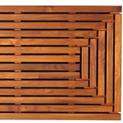 Bare Decor Solid Teak Wood Shower Mat Giza