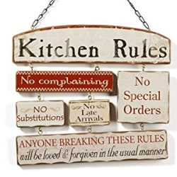 Decor Idea Kitchen Rules Sign