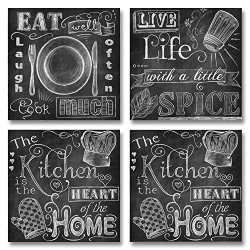 Chalkboard Style Kitchen Signs Paper Posters