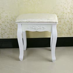 OGORI Vintage White Dressing Table Stool | Dressing Table Chair | THD
