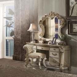 Bedroom Vanity Sets With Mirror & Benches