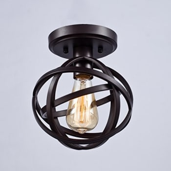 Dazhuan-Antique-1-Light-Metal-Globe-Chandelier-with-Cage-Flush-Mount-
