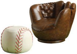 Crown Mark Ball Chair & Ottoman
