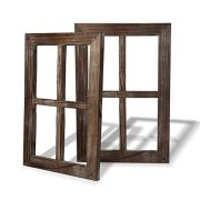 Cade Old Rustic Window Barnwood Frames -decoration for Home or Outdoor, Not For Pictures