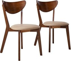 Scandinavian Bentwood Dining Chair - high back parson chair