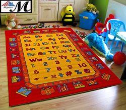 ABC Fun 3' X 5' Children Area Rug for Playroom & Nursery