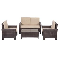4 Piece Patio Sofa Set
