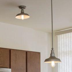 520320 Design House Kimball Ceiling Mount Pendant Light (Bronze)