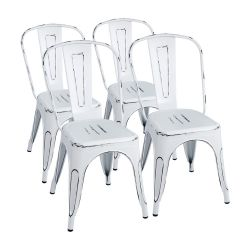 Furmax Vintage Style Bistro Metal Chairs