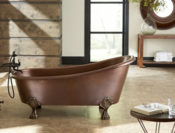 Perfect Farmhouse Claw foot tub from Sinkology  The TBT-6631CL Heisenberg is a Handmade Pure Solid Copper Freestanding Claw Foot Bath Tub, Made from 5.5′, Antique Copper  Don't settle for a boring white bath tub, choose a Sinkology tub and make a statement  Expertly crafted and finished by hand to make it uniquely yours  Crafted using only the finest Pure Solid Copper