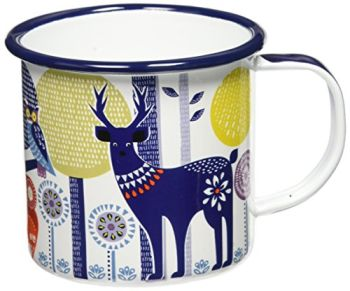 Scandinavian Folklore Enamel Camping Coffee Mug Day Designnavian - Folklore Enamel Camping Coffee Mug Day Design