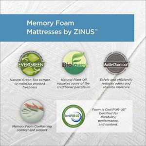 Zinus Memory Foam 6 Inch - New cozy narrow twin size (30x75 Inch) Mattress layers include: 1 inch memory foam, 5 inches high-density base support foam.memory foam 12 inch comfort mattress zinus 6 inch zinus 6 inch platform bed zinus twin size mattress