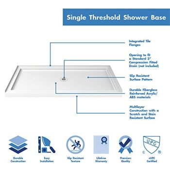 DreamLine-Enigma-X-30-in-D-x-60-in-W-Kit-with-Sliding-Shower-Door-in-Brushed-Stainless-Steel-and-Center-Drain-White-Acrylic-Base-0-12