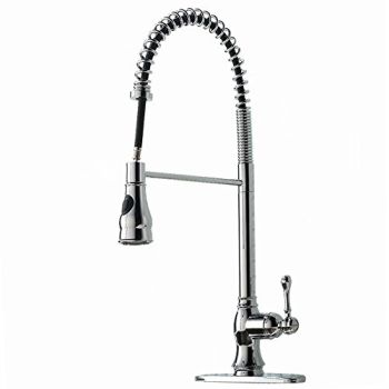 High Arch Stainless Steel Spiral Single Handle Commercial Pull Down Kitchen Faucet