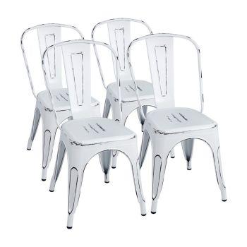 Furmax Vintage Style Bistro Metal Chairs