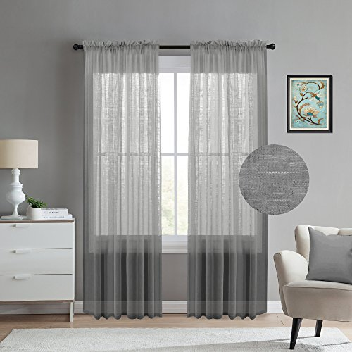 Sheer-Curtains-for-Living-Room Window Treatment: Great Designer Curtain - Blinds and Shade