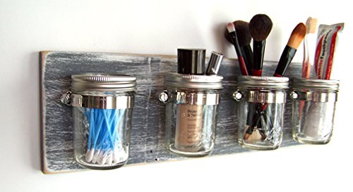 Farmhouse-Bathroom-Storage-by-Out-Back-Craft-Shack  Mason-Jar-Toothbrush-Holder-in-Rustic-Gray