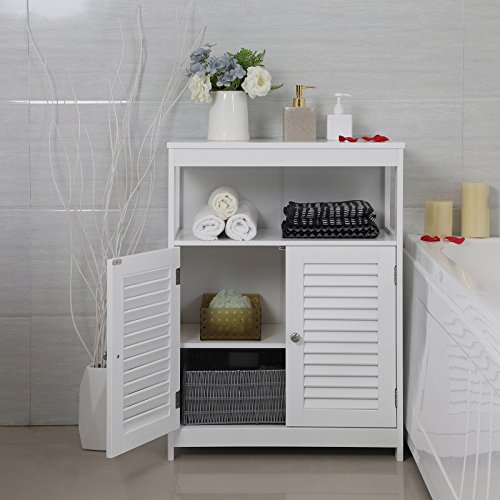 SONGMICS-Bathroom-Cabinet-Storage-Floor-Cabinet-Free-Standing-with-Double-Shutter-Door-and-Adjustable-Shelf-White-UBBC40WT-0-1