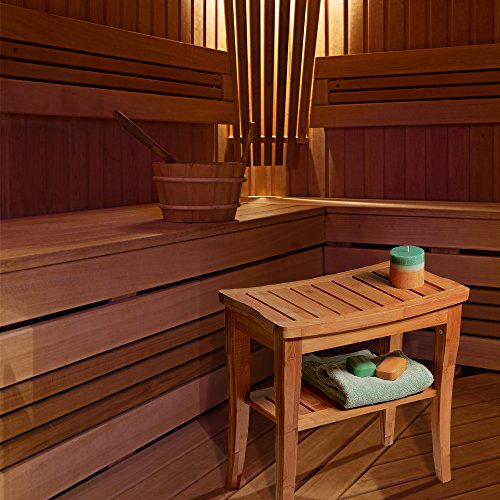 🛁 Good Cheap Teak Shower Seat Bench & Storage By Bambusi (SALE )