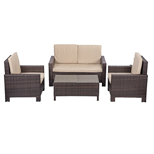 4 Piece Patio Sofa Set