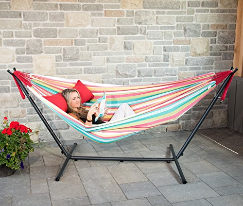 Double Hammock Vivere uhsdo9 20 Tropical Style Fits easily into small patios