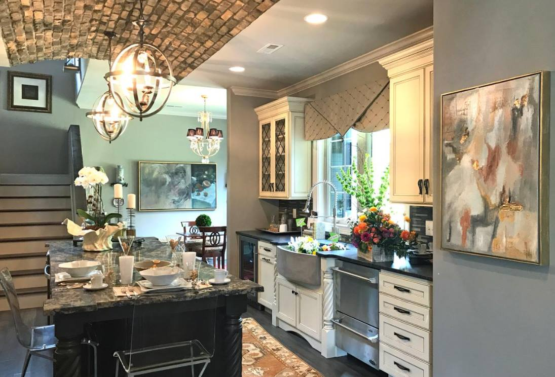 Arched Dropceiling to browden this kitchen