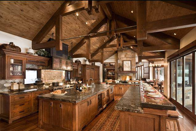 Rustic Open Ceiling Kitchen