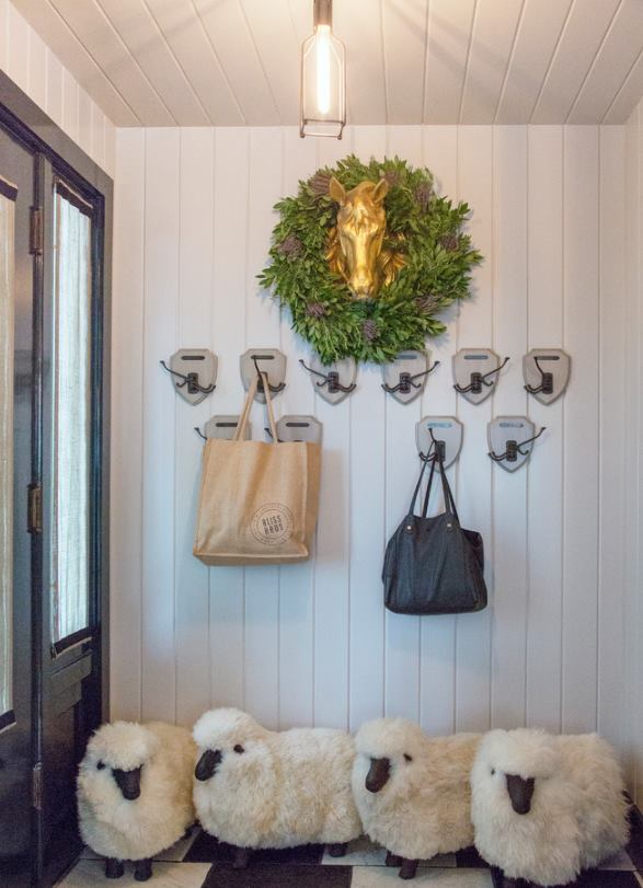My favorite....sheep for your foyer may not be as good for everybody but I love it. Learn more about  - foyer looks  - Entry Table - Farmhouse Bench and get some Decor Ideas in the The Ultimate Farmhouse Guide - Farmhouse Decor 2020