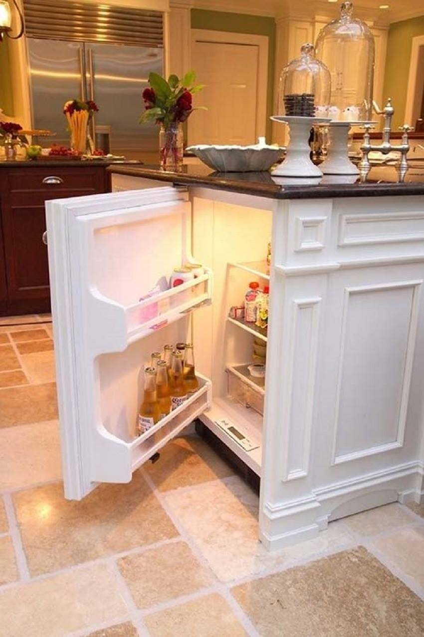 Another great kitchen Hack is to use the end of a cabinet run or Kitchen Island