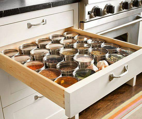 Kitchen Drawer Hack vanishing spice rack