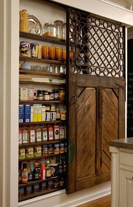 Barn Door Food Pantry
