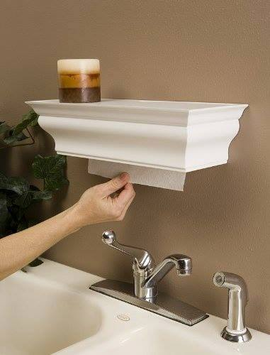 kitchen hack and trade your plain Jane paper towel holder for the shelf kit