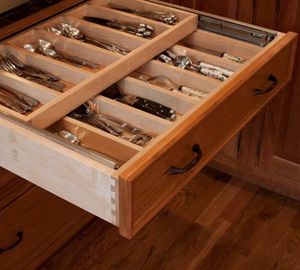 2 Tier Silverware Storage Kitchen Drawer Hack