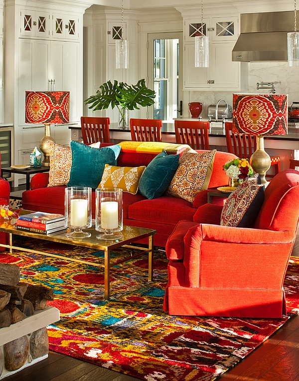 Boho Style Decoration with colorful throw pillows discover new house decorating ideas.