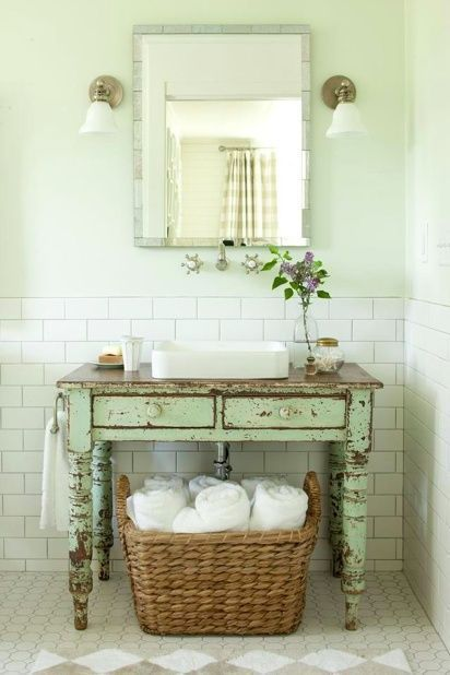 Shabby Chic bathroom designs styles