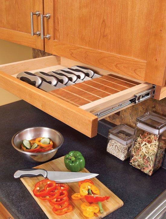 pull-out organizer to mount under your hanging cabinet