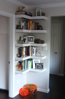 Corner Shelving uses dead wall space