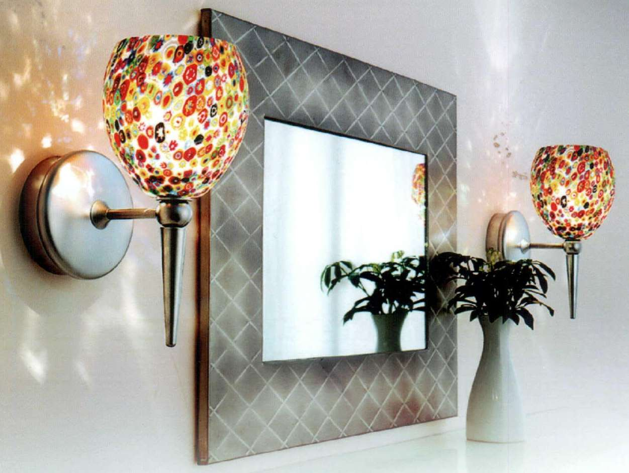 decorative-wall-sconces & mirror