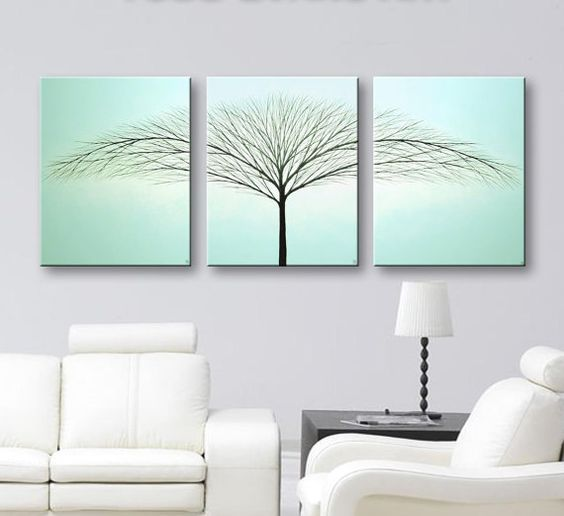 I love new house decorating ideas like this Blue_Wall_Art_by_Todd_Evans