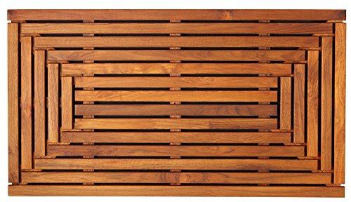 Bare Decor Solid Teak Wood Shower Mat Giza