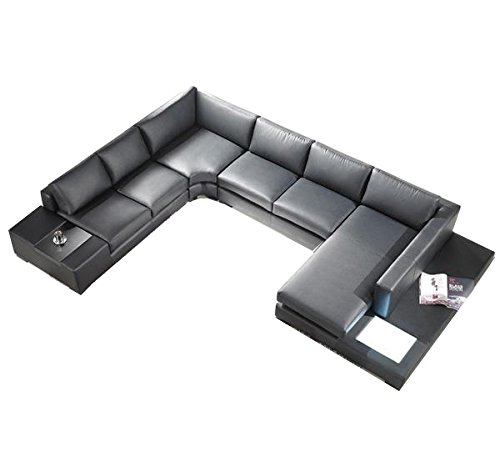 T35 Black Bonded Leather Sofa