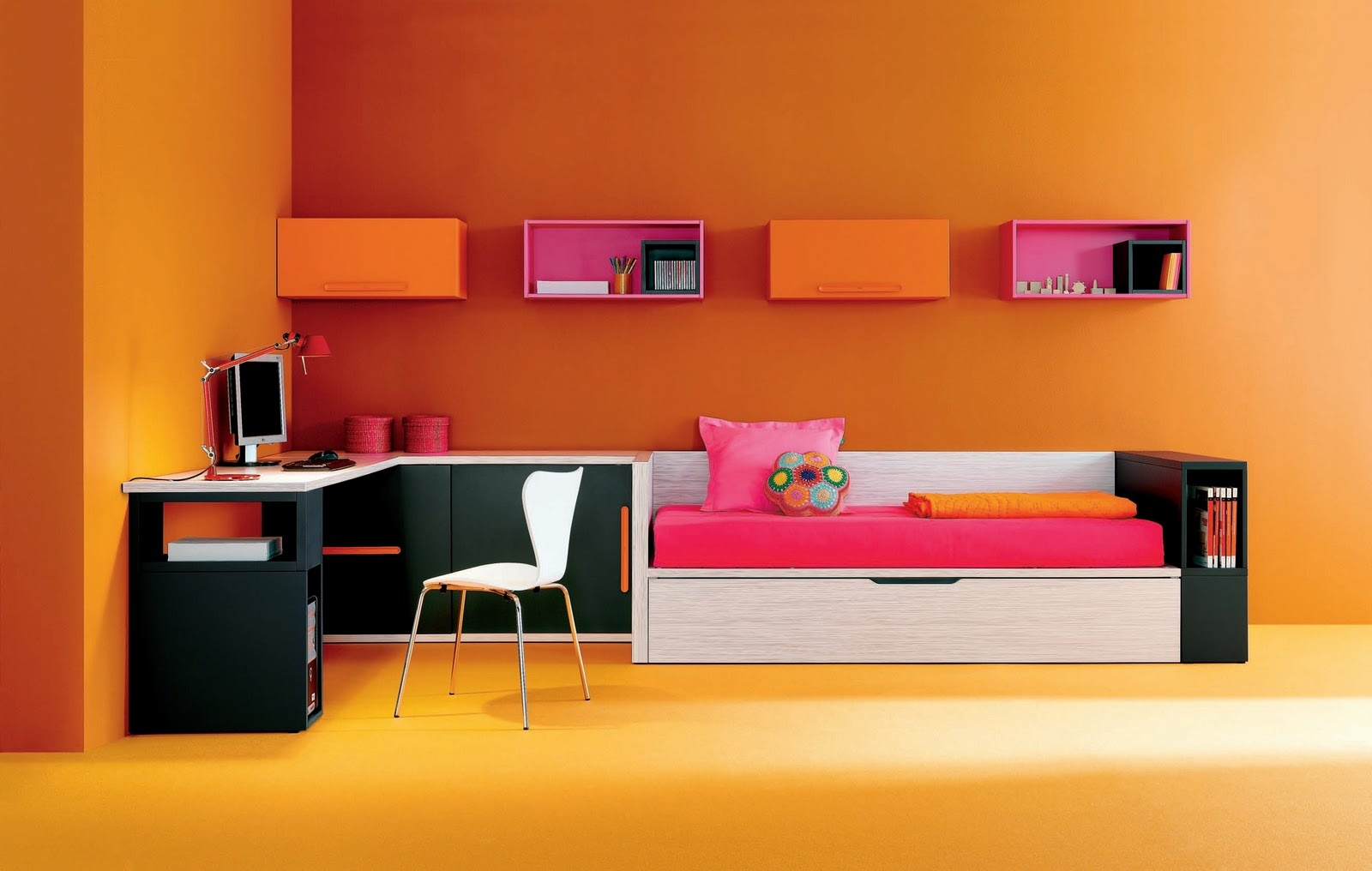 Modern Style Teenager Room Design 2019 Color Trend